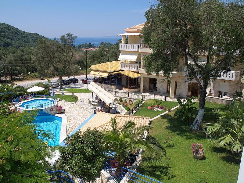 Adams Edem Apart Hotel  Parga Greece view to the hotel