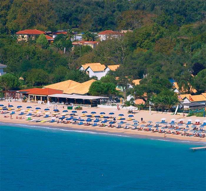 The Valtos beach with Parga Beach resort
